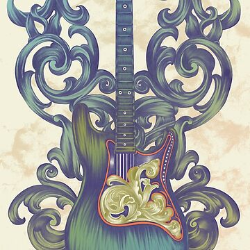 Angel Guitar by jillsandersart