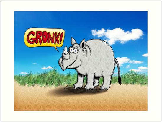 Rhinoceros: Gronk! by PETER GROSS