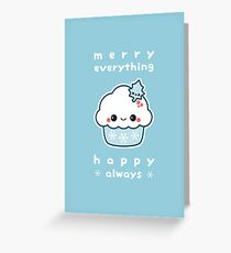 Merry Everything Cupcake Greeting Card