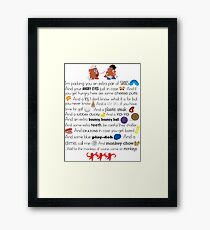 Mr. and Mrs. Potato Head Framed Print