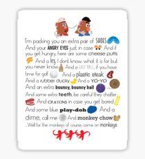 Mr. and Mrs. Potato Head Sticker