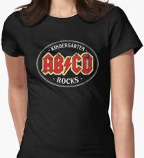 Vintage Kindergarten Rocks - dark Women's Fitted T-Shirt