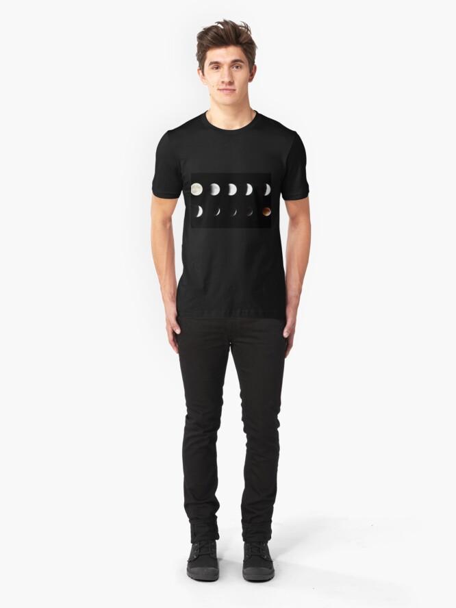 Alternate view of Supermoon Lunar Eclipse Slim Fit T-Shirt