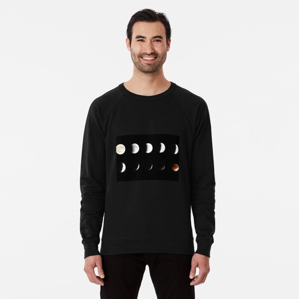 Supermoon Lunar Eclipse Lightweight Sweatshirt
