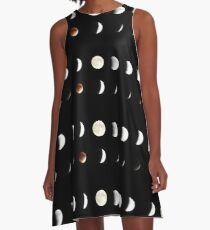 Supermoon Lunar Eclipse A-Line Dress
