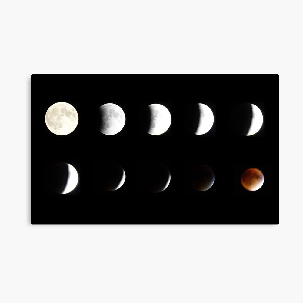 Supermoon Lunar Eclipse Canvas Print