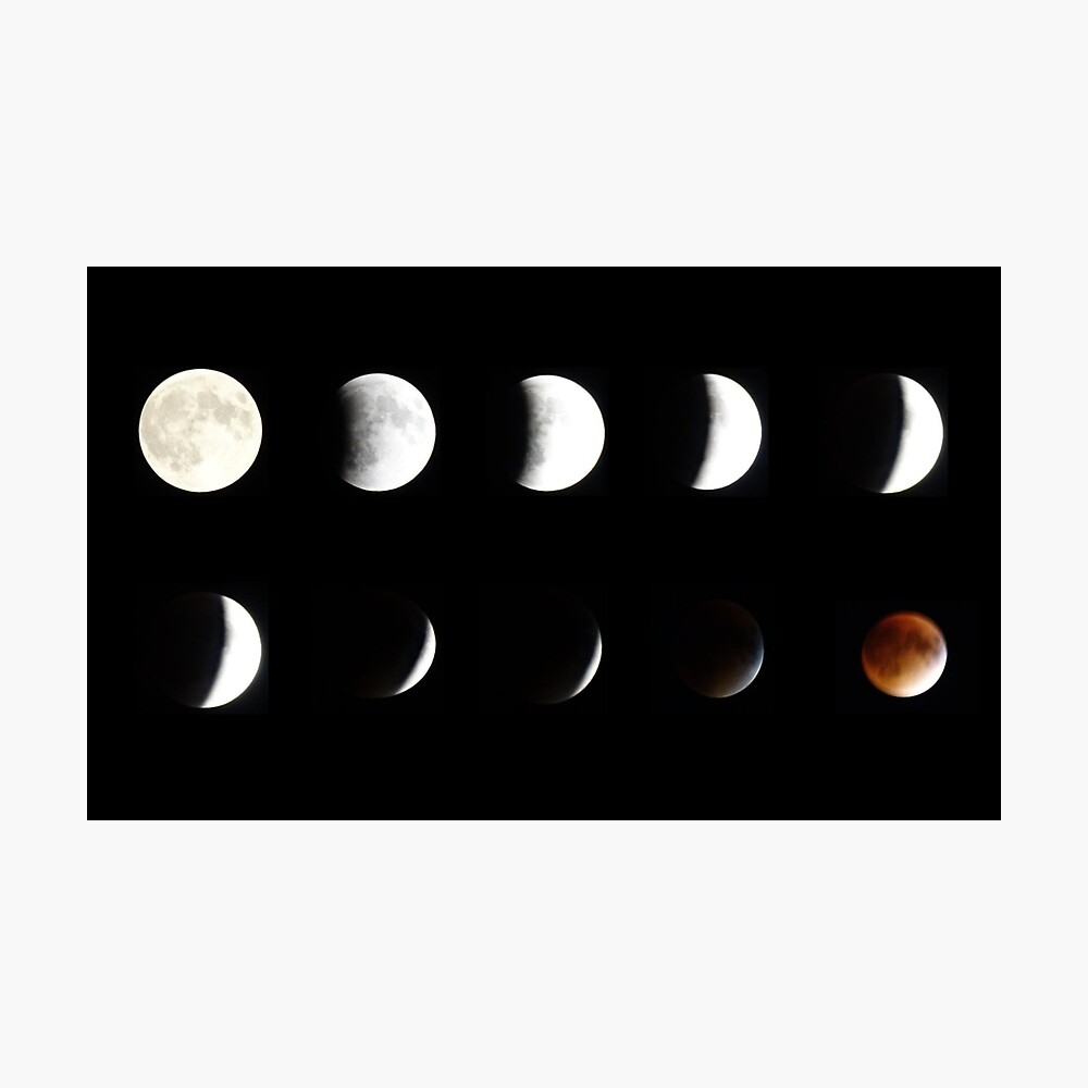 Supermoon Lunar Eclipse Photographic Print