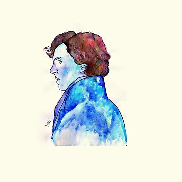 Sherlock Blue Watercolour by zoeeeee94