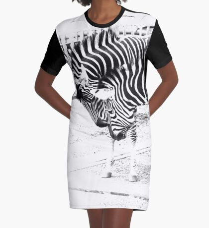 Zebras in high key Graphic T-Shirt Dress