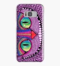 Alice In Wonderland Cat Purple  Samsung Galaxy Case/Skin