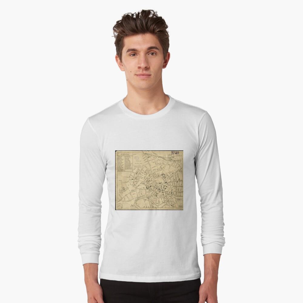 Vintage Map of Cambridge Massachusetts (1880)  Long Sleeve T-Shirt Front