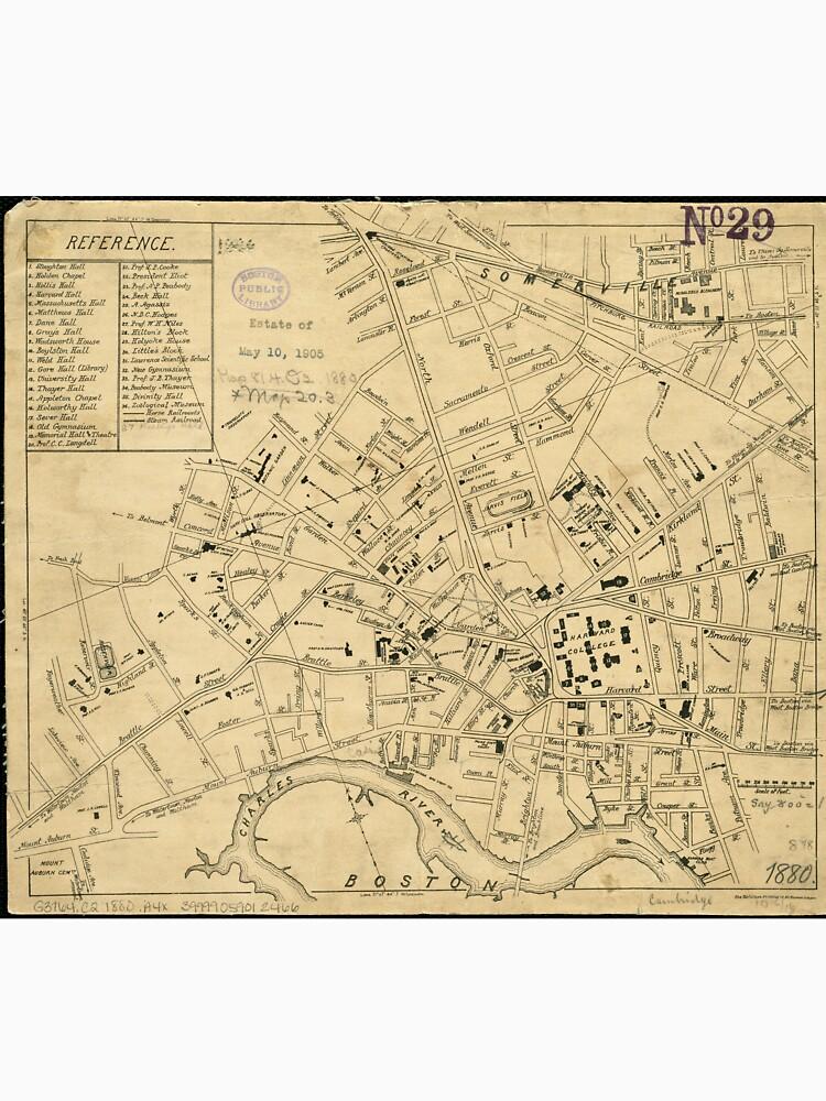 Vintage Map of Cambridge Massachusetts (1880)  by BravuraMedia
