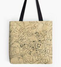 Vintage Map of Cambridge Massachusetts (1880)  Tote Bag