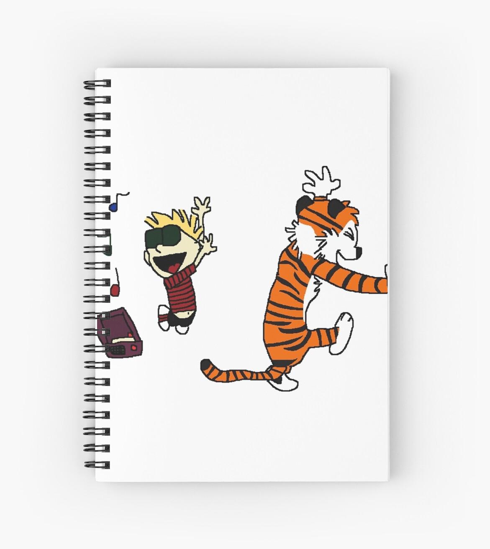 Cuadernos de espiral «Calvin y Hobbes» de kreminen   Redbubble