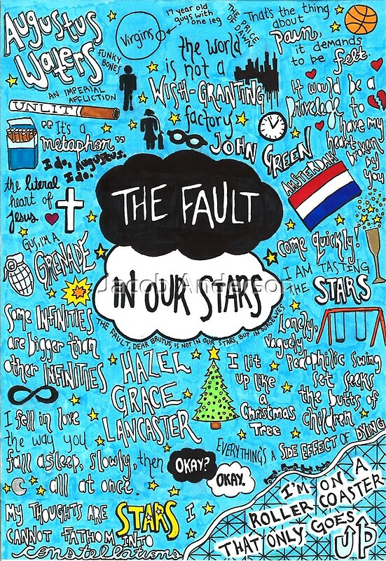 the fault in our stars collage posters by jacob anderson