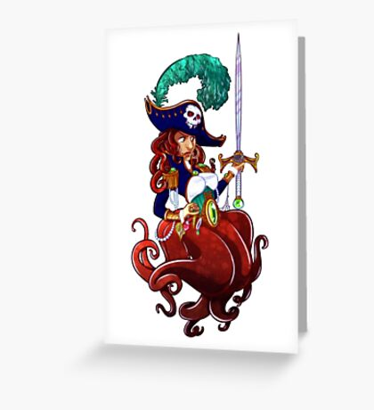 Piratical Octopus Greeting Card