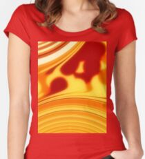 Sunrise - Red Orange Women's Fitted Scoop T-Shirt