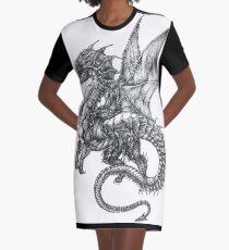 Vestido camiseta Tatuaje de dragón