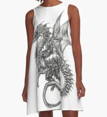 dragon tattoo A-Line Dress