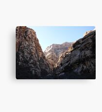 Icebox Canyon Ravine Canvas Print