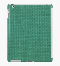 Natural Woven Mint Green Burlap Sack Cloth iPad Case/Skin