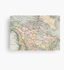 Vintage Map of Canada (1892) Canvas Print