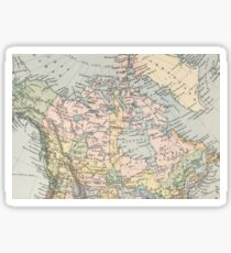 Vintage Map of Canada (1892) Sticker