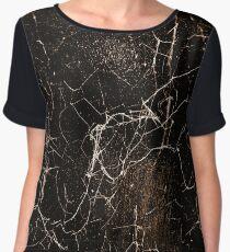 Spider Web Print Grunge Dark Texture Chiffon Top