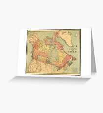 Vintage Map of Canada (1898) Greeting Card