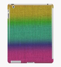 Shaded Bright Rainbow Colors Burlap Sack Cloth iPad Case/Skin