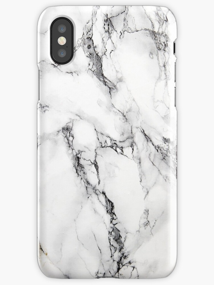 MARBLE - WHITE [iPhone case] by armeenerz