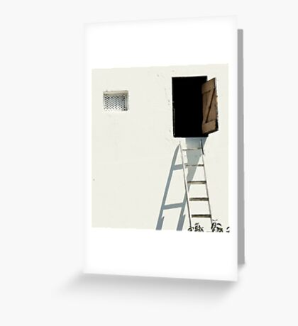 Step up into the unknown Greeting Card
