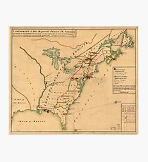 Map of the 13 Colonies Wall Art | Redbubble
