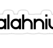 Palahniuk (black logo) Sticker