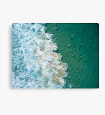 Surfers at Maroubra Beach Canvas Print
