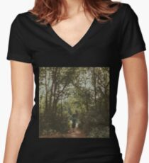 Lonely Path Women's Fitted V-Neck T-Shirt