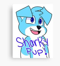 SharkyPup Kipper Canvas Print