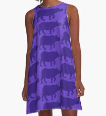 Greater One-horned Rhino Keeper A-Line Dress