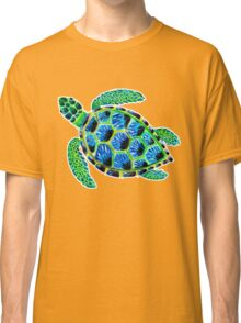 Psychedelic sea turtle in acrylic Classic T-Shirt