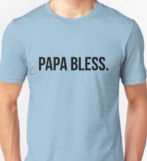 Camiseta ajustada Papa Bless - versión 1 - negro