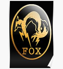 Foxhound Metal Gear Logo Poster