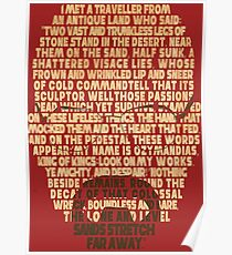 Ozymandias Heisenberg Poster