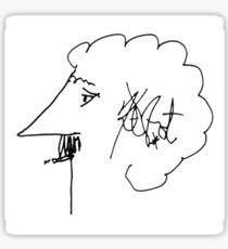Kurt Vonnegut (white background) Sticker