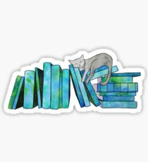 Literary Naps Blue Sticker