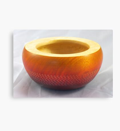 Small coloured and textured wooden bowl, Perth, WA Canvas Print
