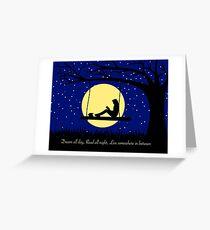 Dream. Read. Live. Greeting Card