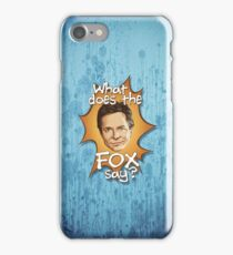 What Does The Michael J Fox Say? iPhone Case/Skin