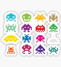 Space Invader Sticker