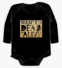 Wanted Dead or Alive One Piece - Long Sleeve
