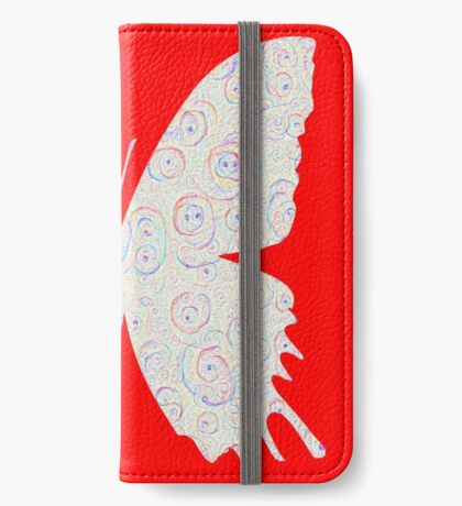 #DeepDream White Butterfly iPhone Wallet